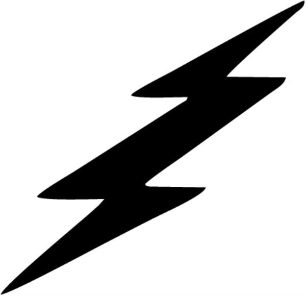 Free in a storm. Lightning clipart bold jpg black and white library