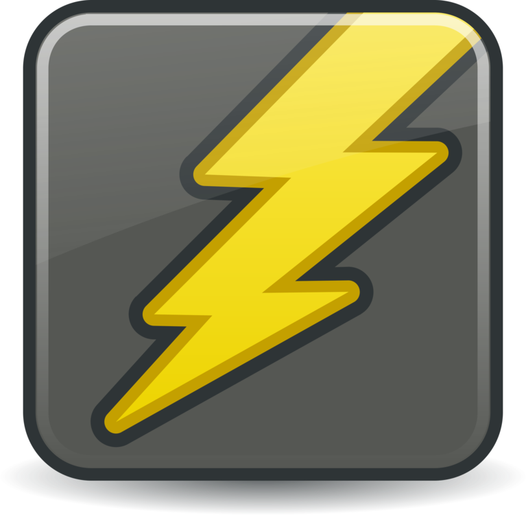Lightning clipart electric sign. Ac adapter computer icons