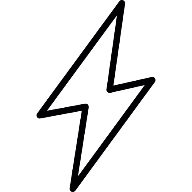 Lightning clipart electric sign. Bolt outline icons free