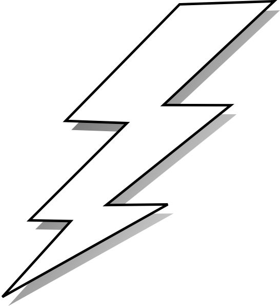 Bolt silhouette at getdrawings. Lightning clipart lightning flash graphic