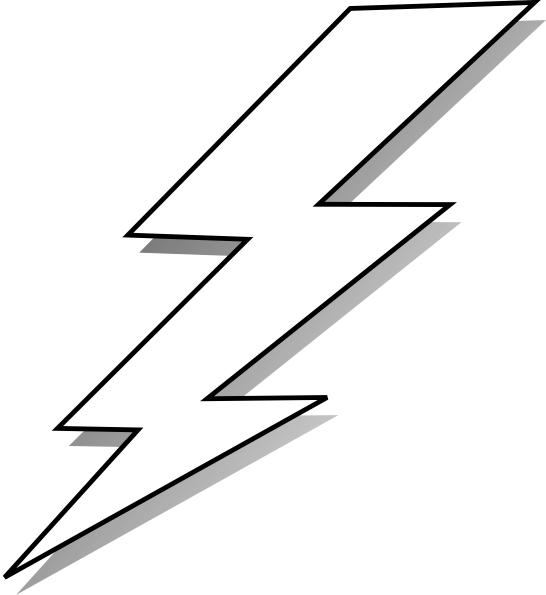 Lightning clipart lightning flash. Comic lightening black and