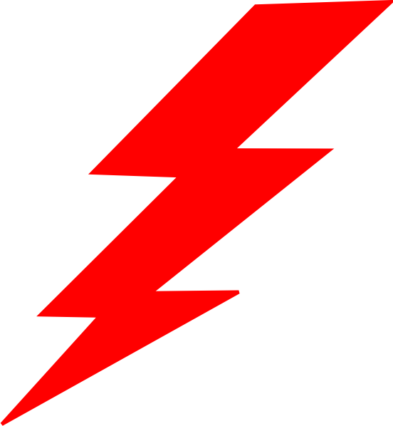 red lightning bolt png