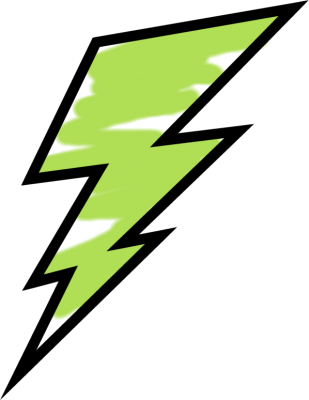 lightning bolt clipart green