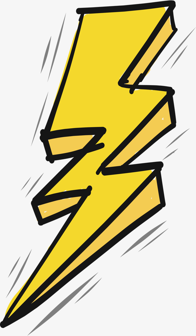 Lightning clipart psd. And thunder png vectors