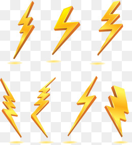 Lightning clipart psd. Yellow png vectors and