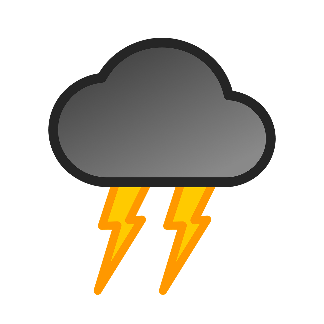 Lightning clipart stylized. Storm grey yellow free