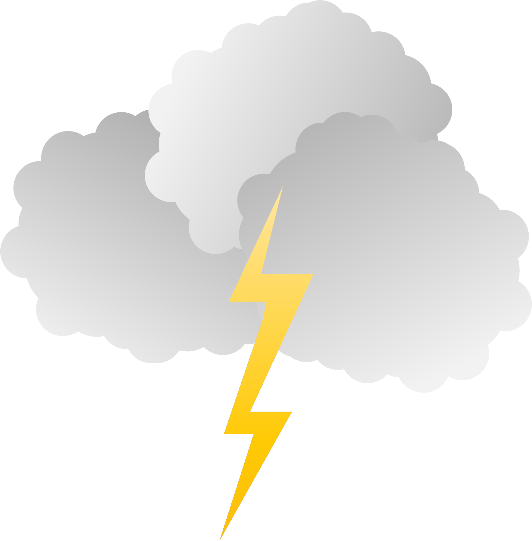 Clipart and big image. Lightning clouds png banner library library