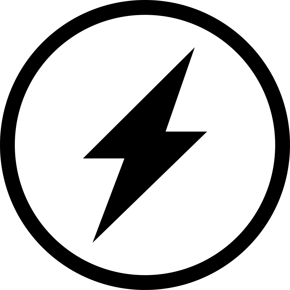 Lightning svg circle. In a png icon