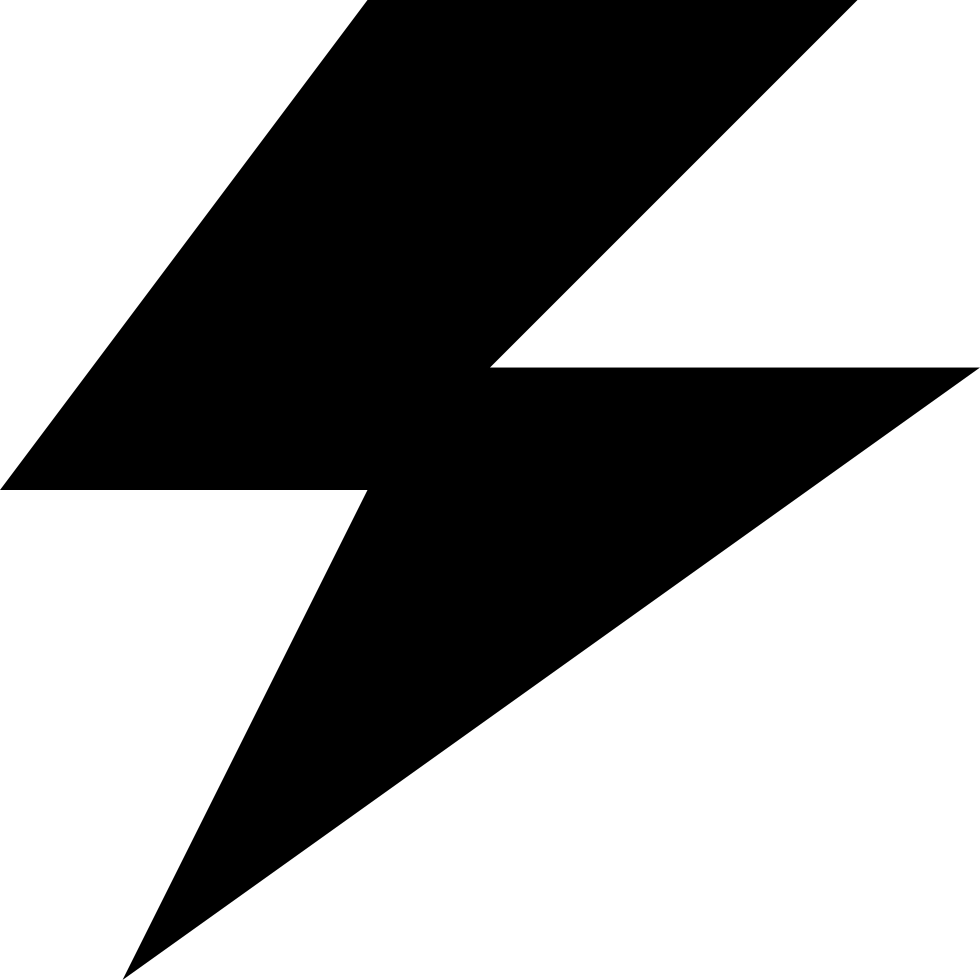 Lightning svg electricity. Power bolt png icon