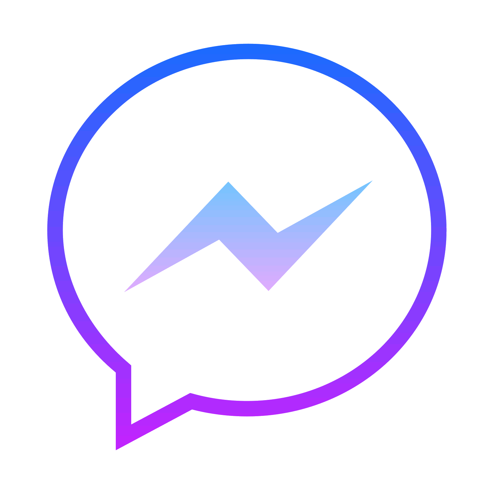 Lightning svg neon purple. Facebook messenger icon free