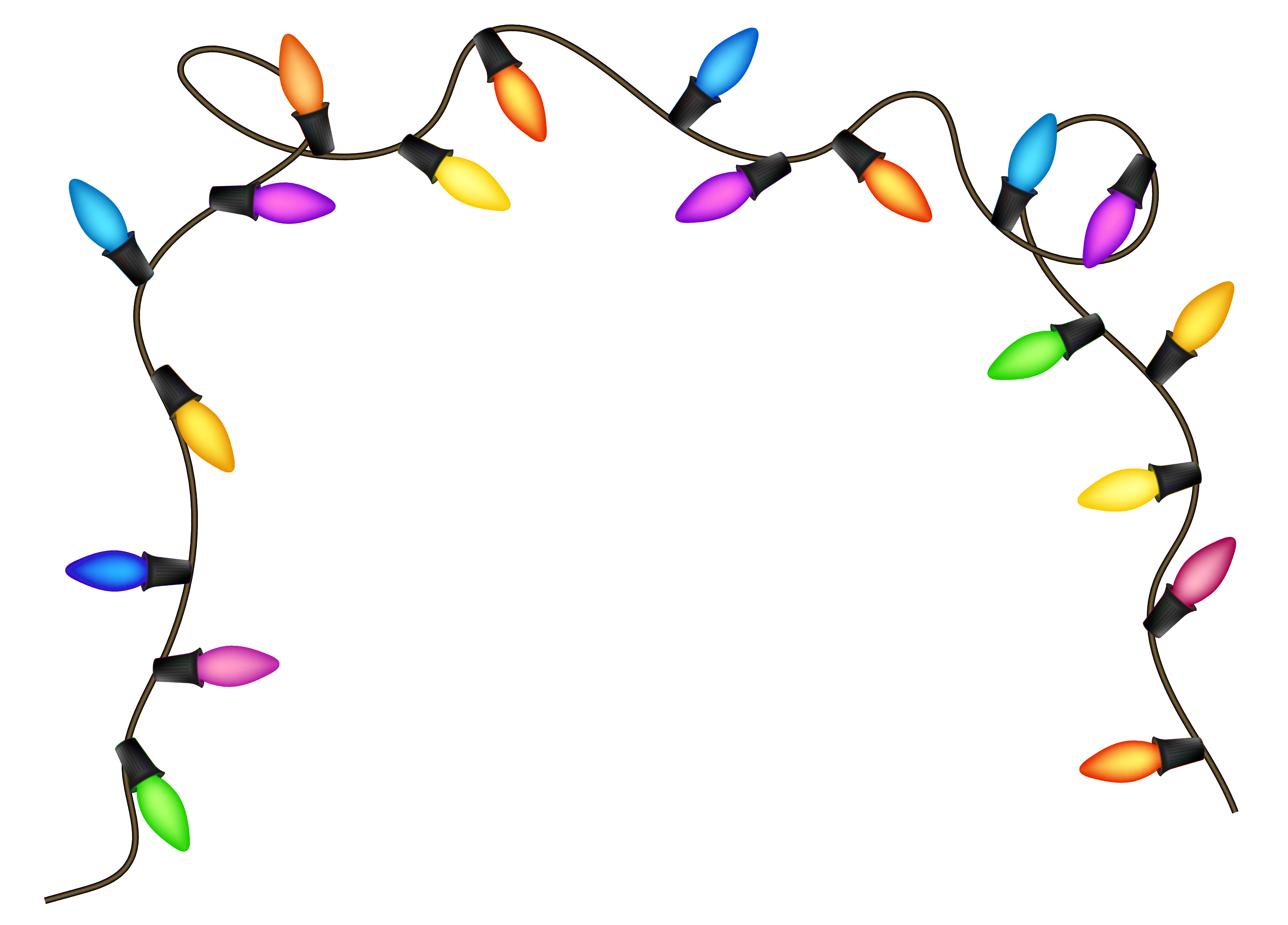 Lights clipart. Christmas png image gallery