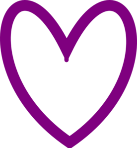 Lights clipart purple heart. House outline black and