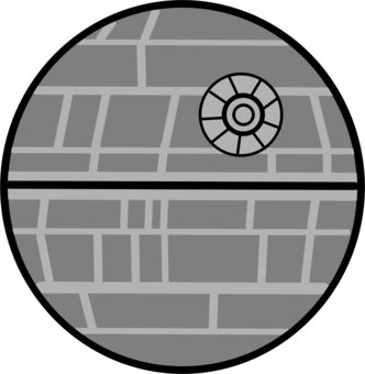 Deathstar vector art. Bb lightsaber computer icons