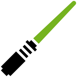 Saber vector clipart. Lightsaber green icon free