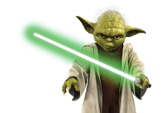 Lightsaber transparent png. Yoda star wars