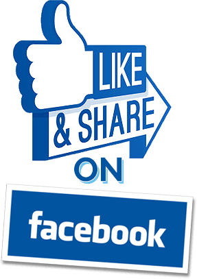 Like and share png. On facebook