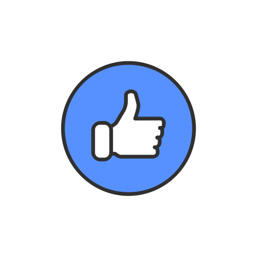 Facebook like logo png. Ui colored by vectto