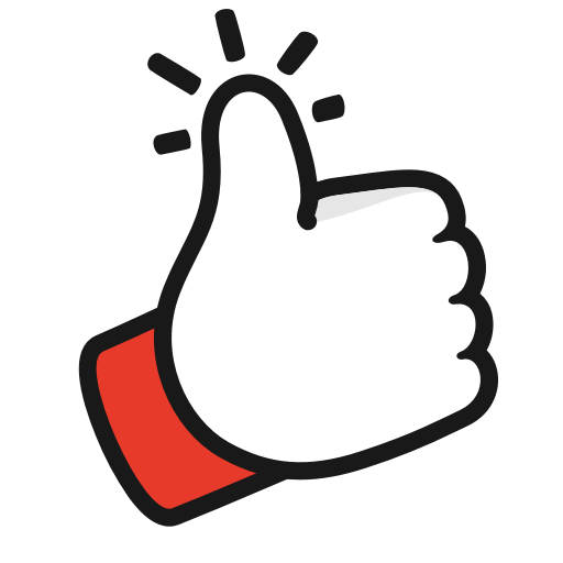 Youtube like png. Gesture thumbs up icon
