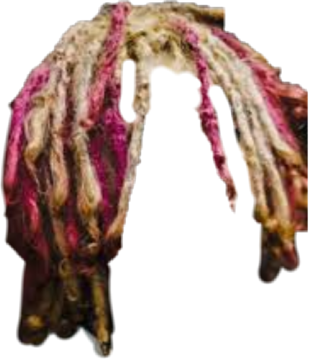 Hair blonde red pink. Lil pump dreads png clip art free
