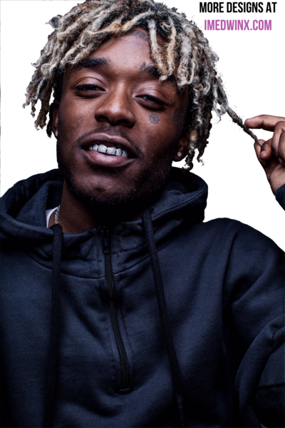 Uzi vert hd psd. Lil yachty dreads png black and white stock