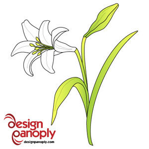 Lilies clipart lily stem. Easter drawing at getdrawings