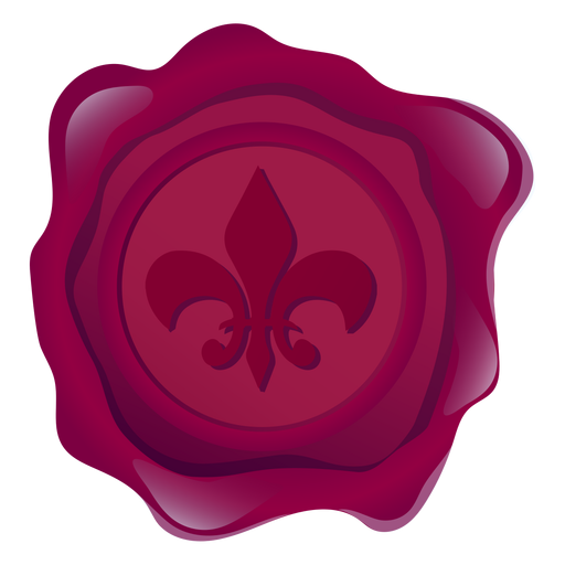 Lily transparent flower crown. Seal wax illustration png