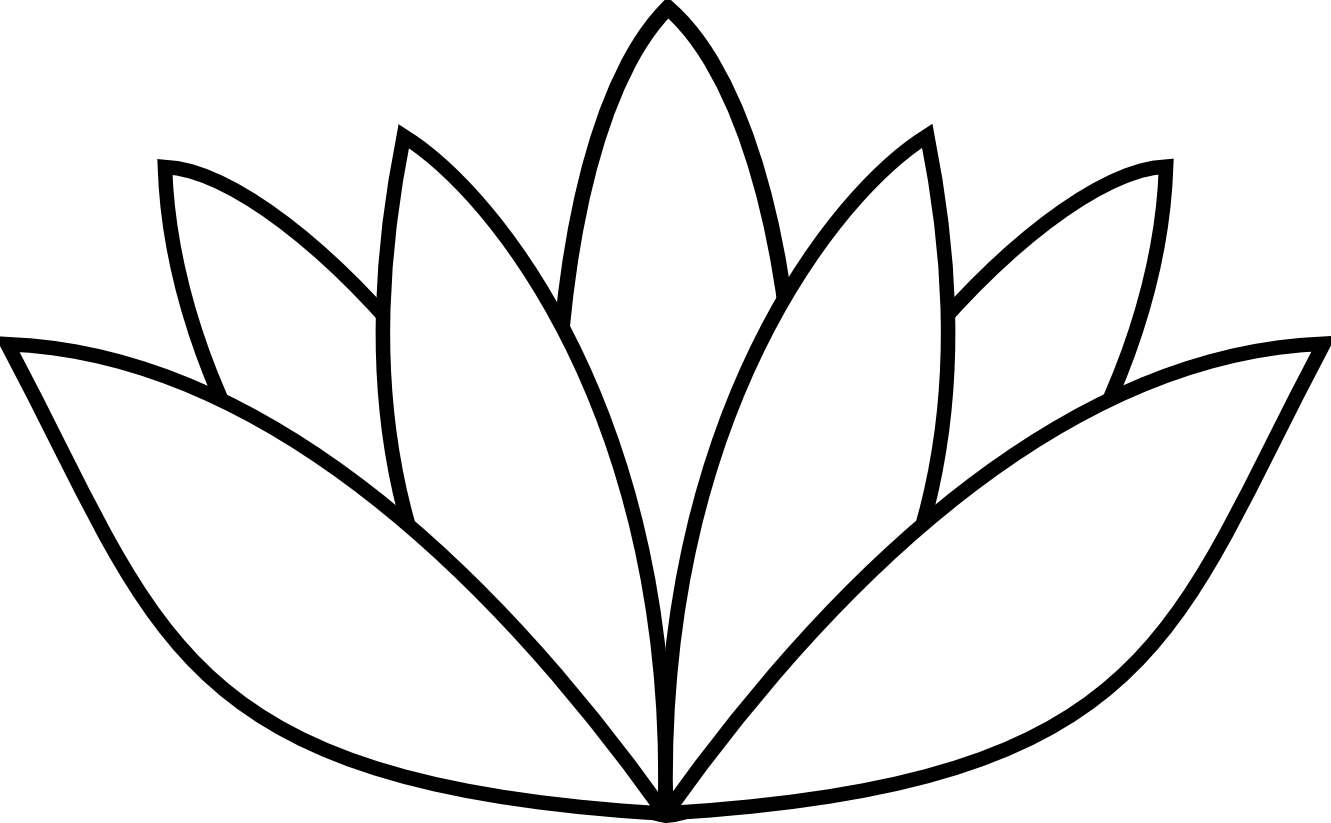 Draw a lotus flower. Lilypad drawing easy vector free library