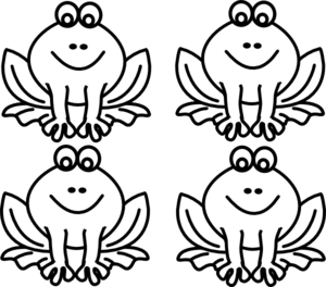 Drawing frogs lily pad. Early play templates frog