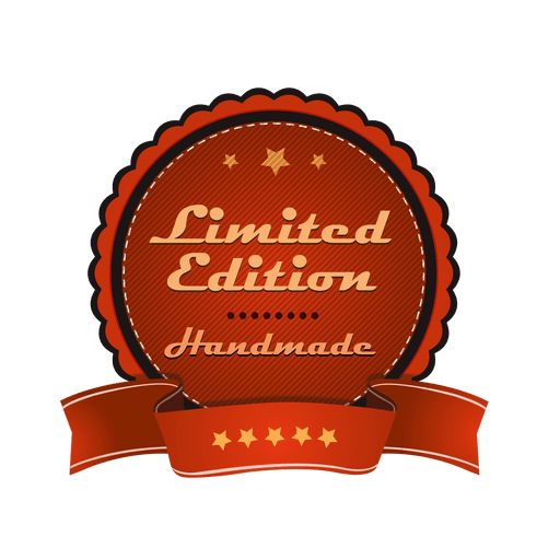 Limited edition badge png. Transparent svg vector