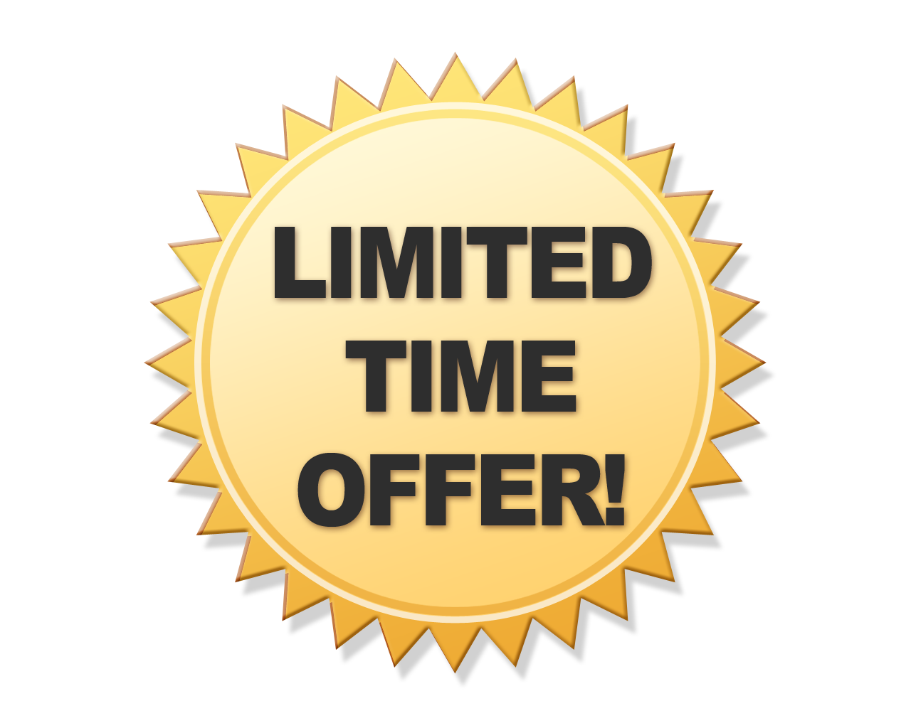 Limited edition badge png. Offer transparent images pluspng