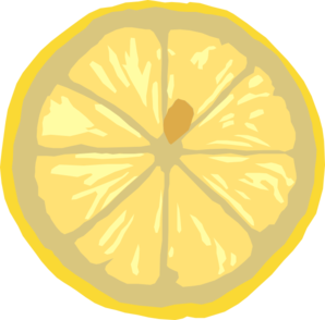 Drawing lemons vector. Lemon slice clip art
