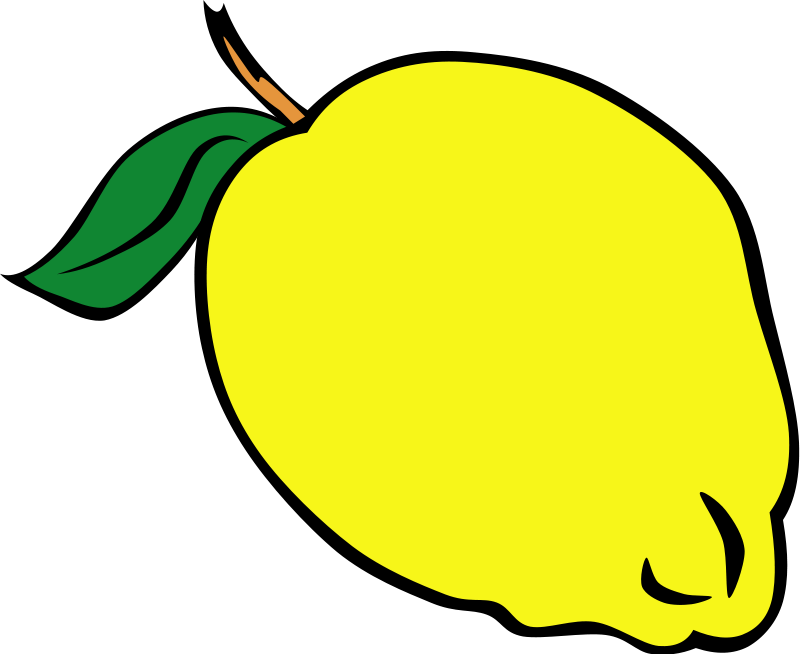 Lemon clipart yellow. Free fruit pictures download