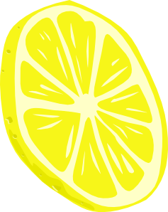 Limon vector honey lemon. Slice clip art at
