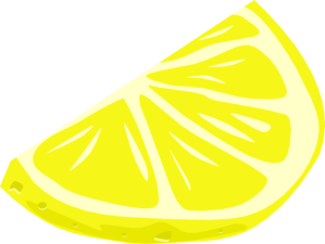 Drawing lemons vector. Lemon wedge clip art