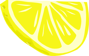 Limon vector minimal. Lemon half slice clip