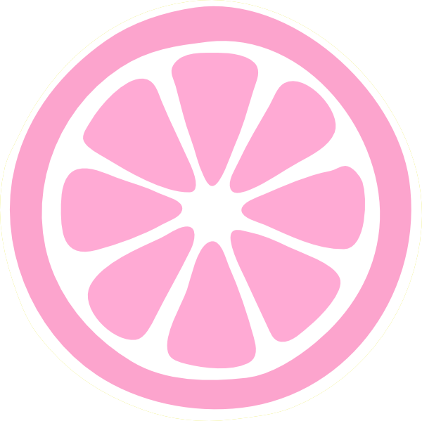 Limon vector sliced. Pink slice hi png