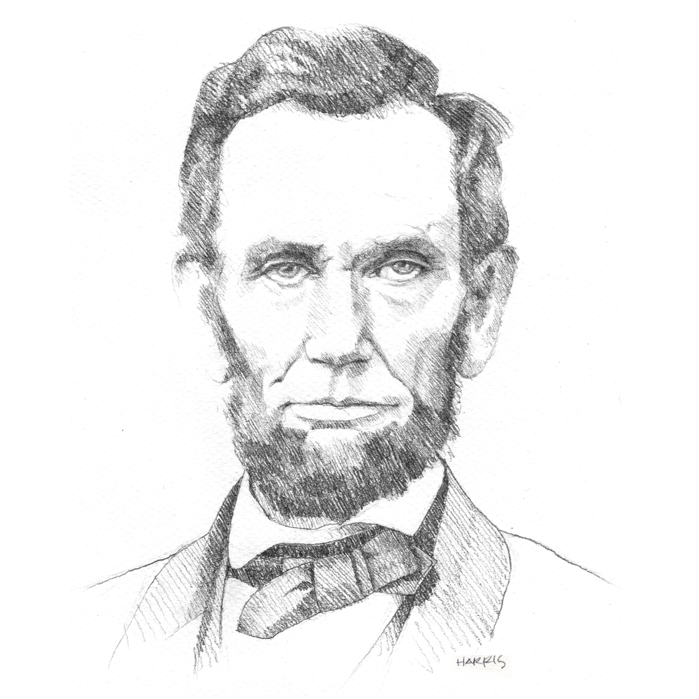 Lincoln drawing. A collection of drawings