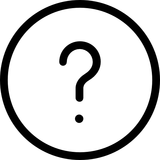 Question mark white png. Circular button free shapes