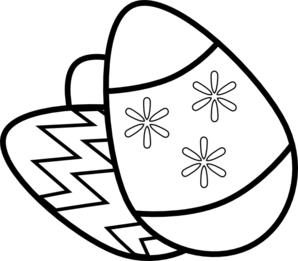 Hats drawing easter. White eggs free clipart