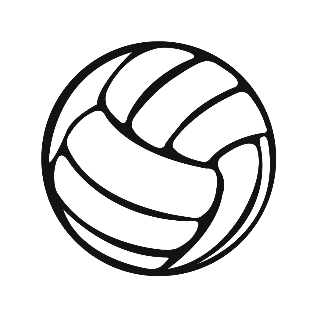 Line clipart volleyball. Silhouette clip art at