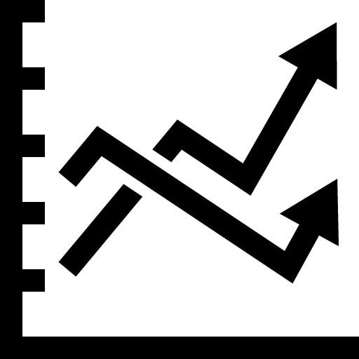 Line graph icon png