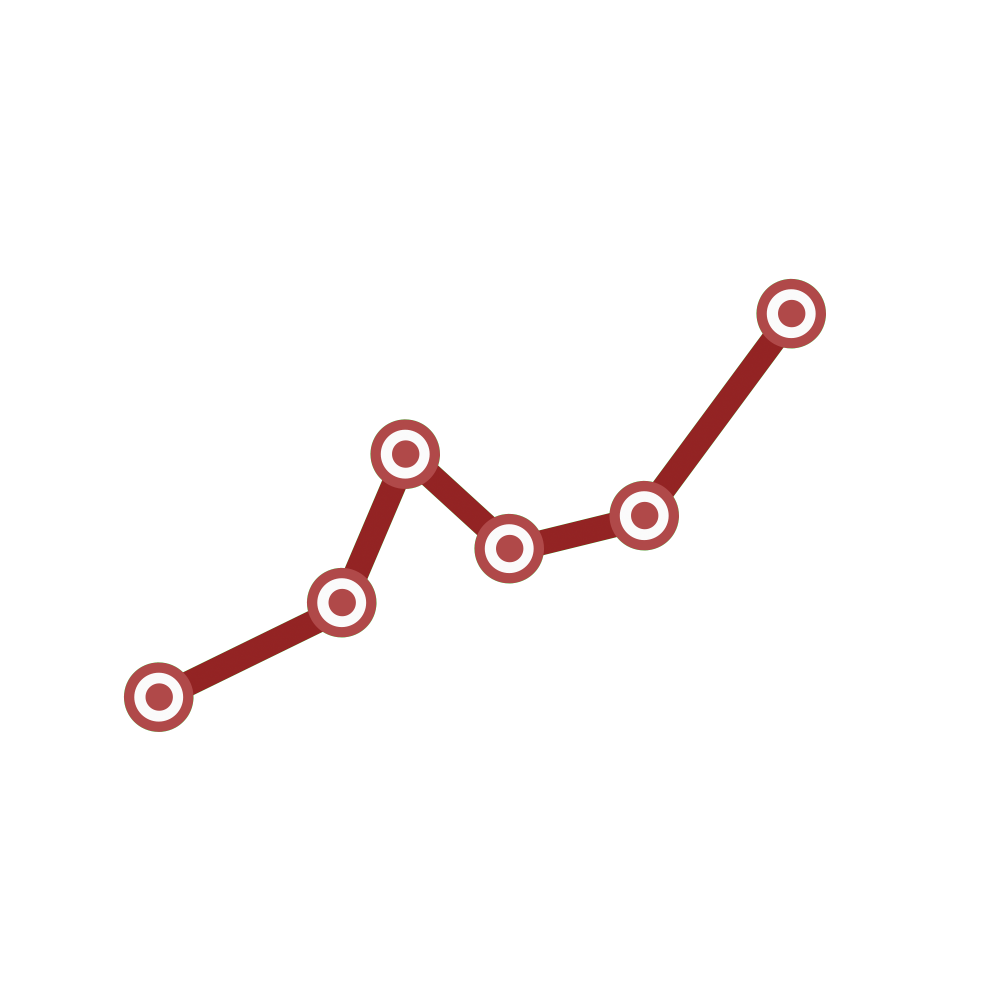 Line graph png. Icon motion graphic stock