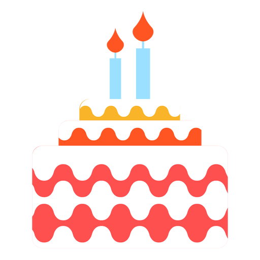 Line of candles png. Two birthday cake transparent