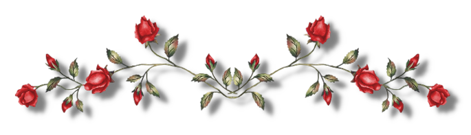 Line of flowers png. Image pin red page