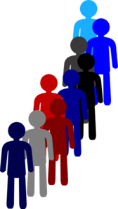 People in line png. A clip art at