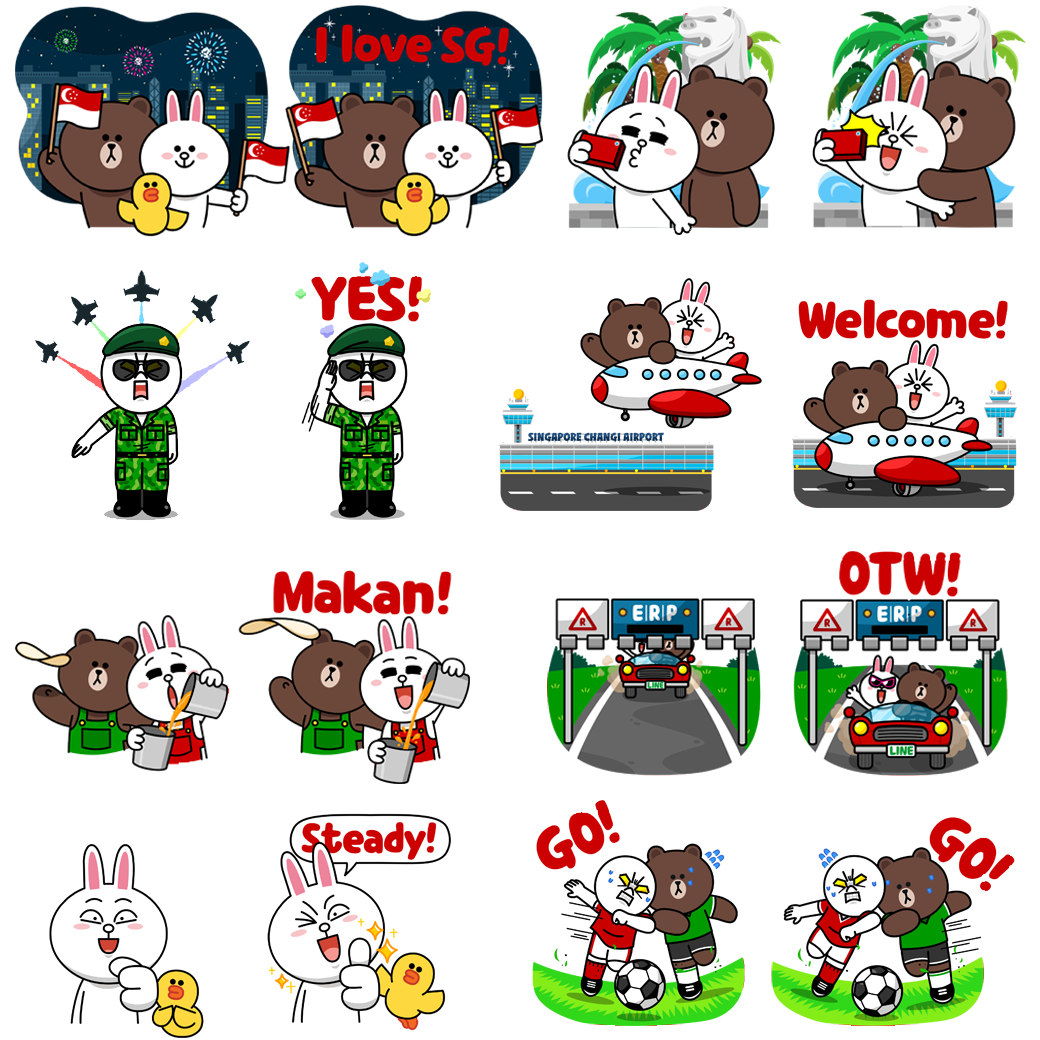 Line sticker png. Celebrate national day with