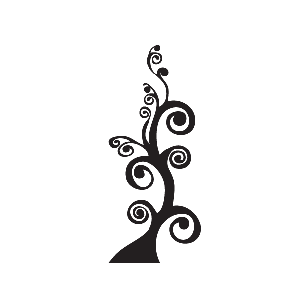 Lineas decorativas para hojas a color png. Arbol ornamental decorativo