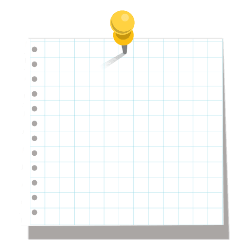 Lined note card png. Pinned squared sticky transparent