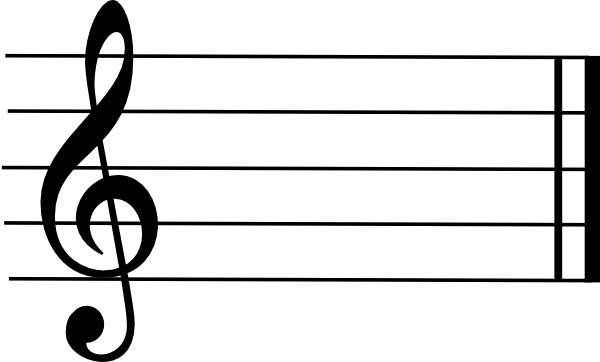 Vector notes treble clef