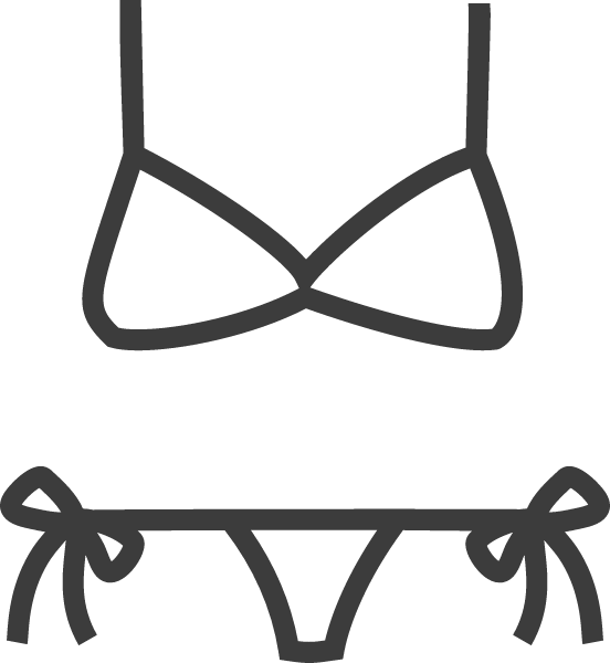 Vector clothes top. Free online lingerie bathing